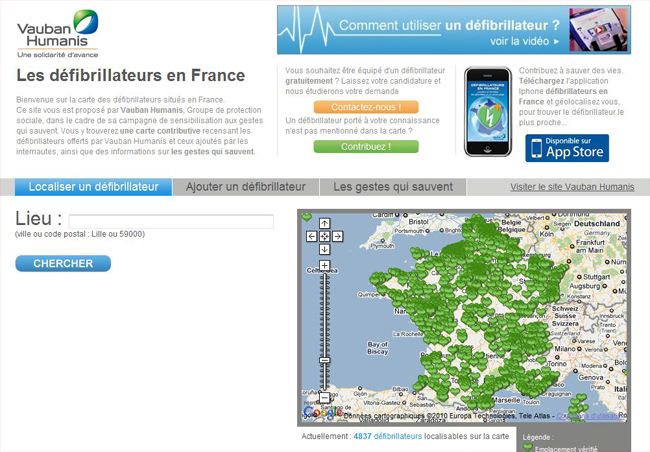 Carte_defibrillateur_france