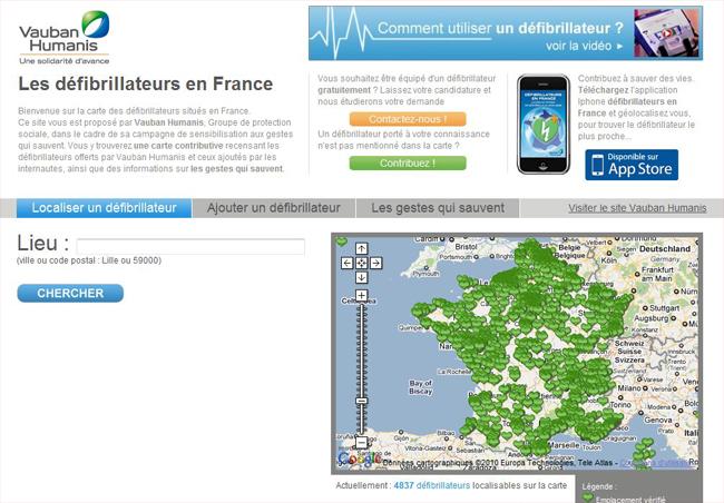 Carte_defibrillateur_france