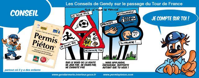 Gendarmerie - BD 04 -TOUR DE FRANCE PERMIS PIETON 2011