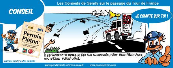 Gendarmerie - BD 02 - TOUR DE FRANCE PERMIS PIETON 2011