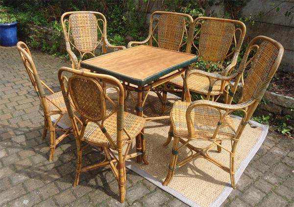 Le Blogue antiquités: Fauteuils et Chaises en Bambou et Rotin