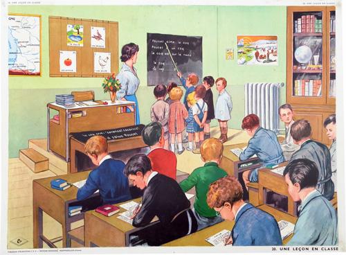 Le blogue antiquit s planches p dagogiques rossignol - Carte murale scolaire ancienne ...