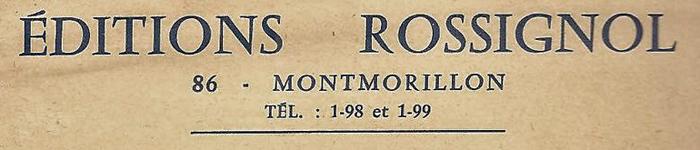 Rossignol-Montmorillon-Vienne