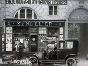 Le Blogue antiquités: Sennelier - Marchand de couleurs à Paris