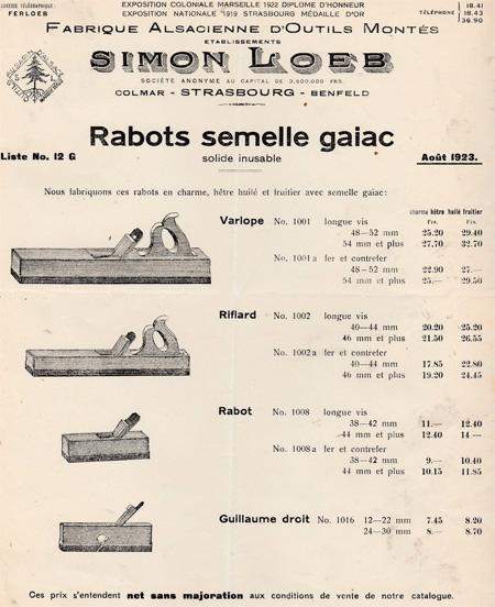 Rabots-fabricant