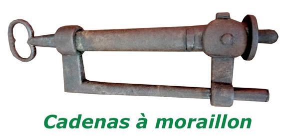 Cadenas-a-moraillon-ancien