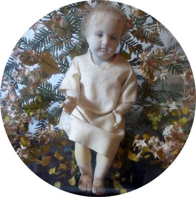 Globe-verre-ancien-enfant-Jesus